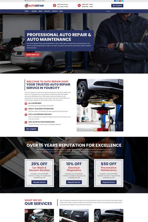 Auto Repair Site